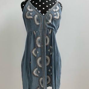 Free People Embroidered Sun Dress